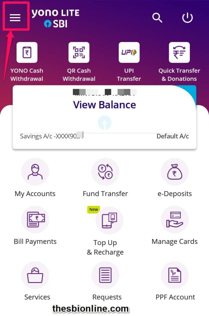 Add Intra Bank Beneficiary for Fund Transfer in SBIthrough YONO Lite SBI mobile app