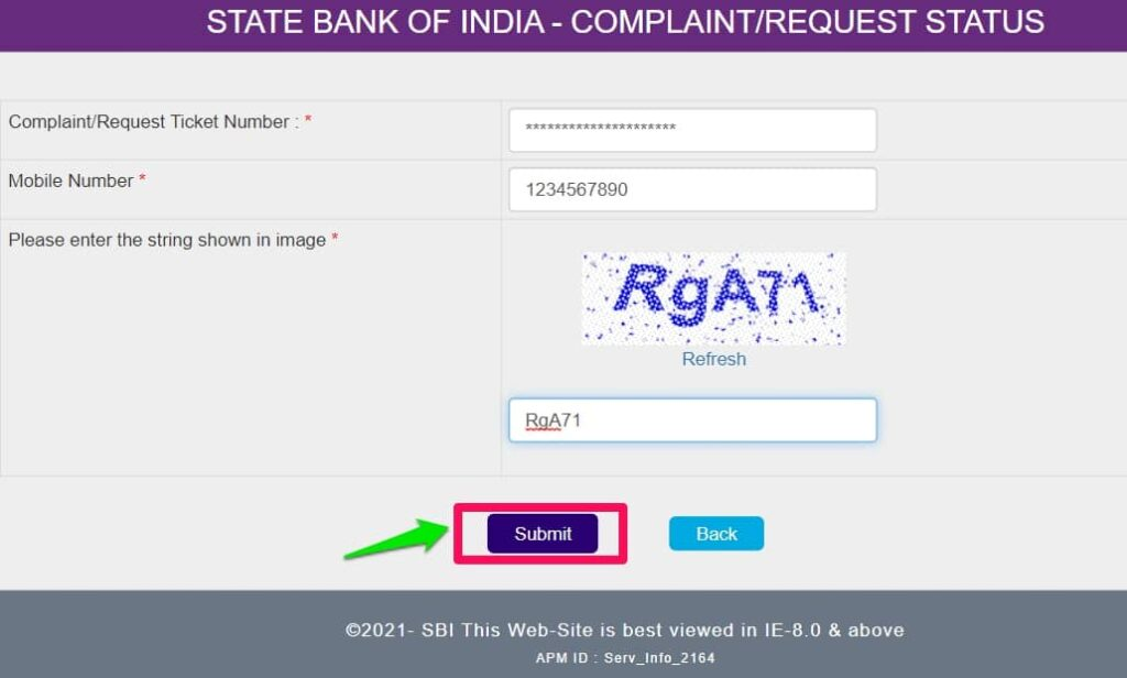 How to Register Complaint Online and Status check in SBI