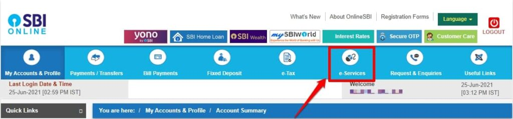 SBI eservices