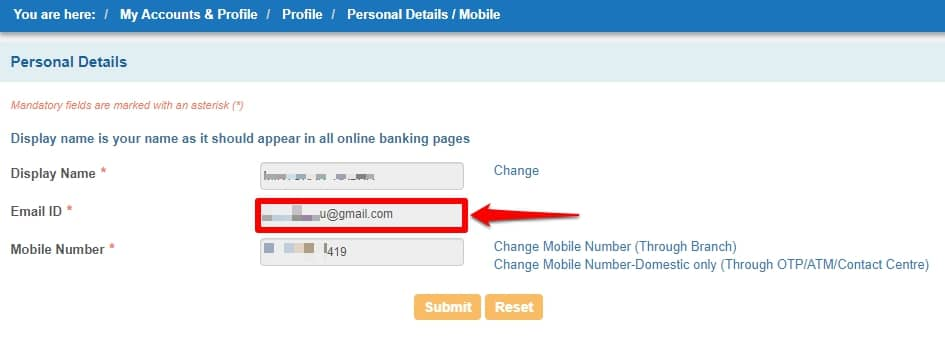 How to Register/Update Email ID in SBI Account